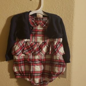 NWT ROMPER WITH CARDIGAN